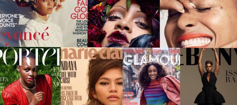black female artists takeover September magazine covers