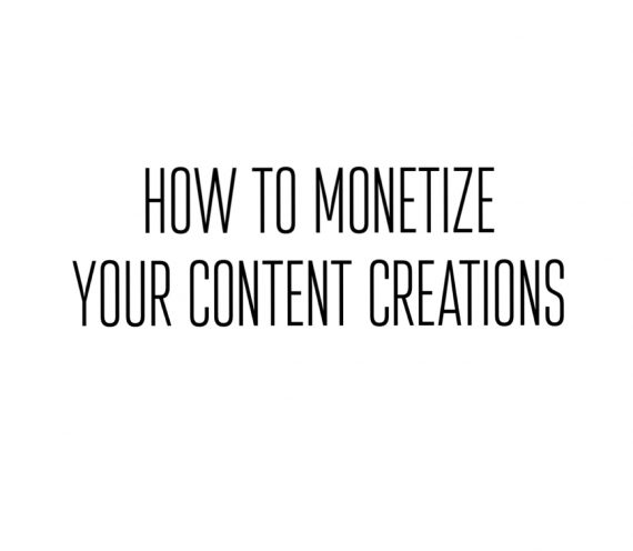 DIY: How To Monetize Your Creative Side