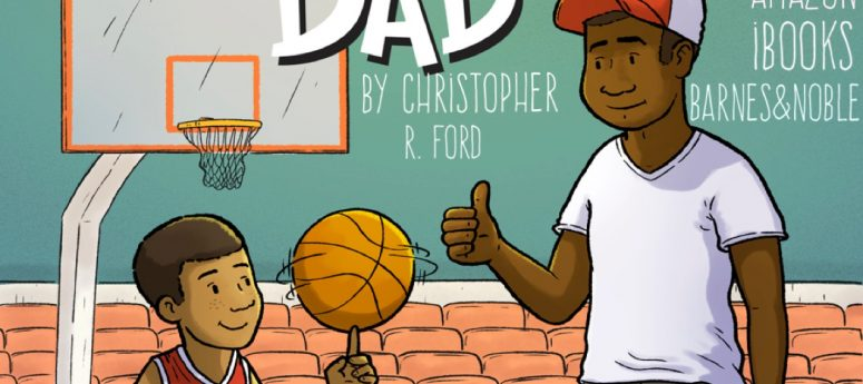 shootin' hoops with dad book for black kids